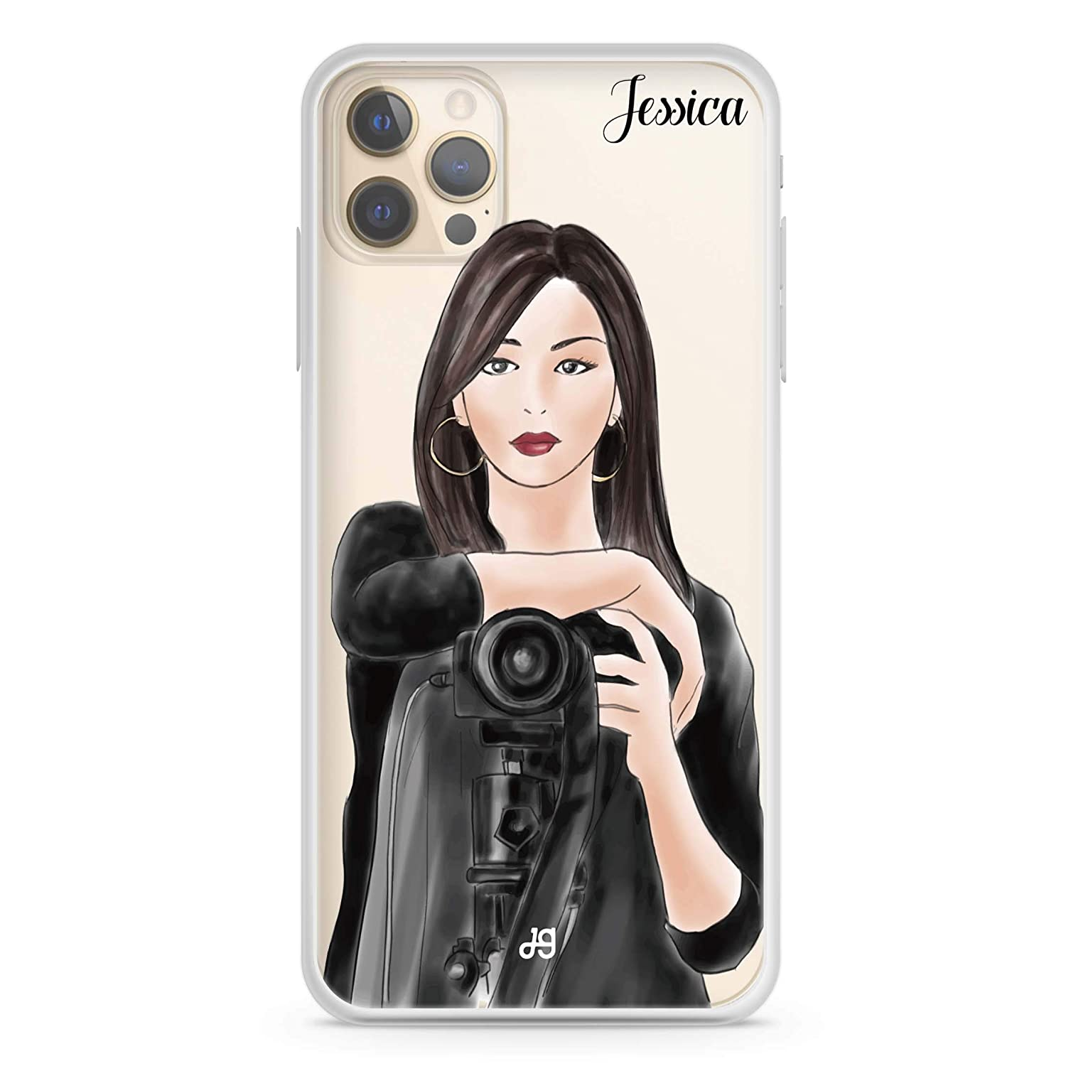 Camera girl III iPhone Max 85% OFF 12 Pro Soft Case iP Limited time sale Clear Max