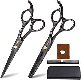 Sepfavo Hair Cutting Scissors Tool Set, Professional Barber Scissors Kit, Small 6.5 Inch Thinning Shears With Case for Men...