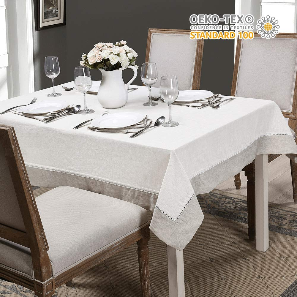 SimpleOpulence 100% Linen Tablecloth - Re discount Premium of Max 61% OFF 1 Pack