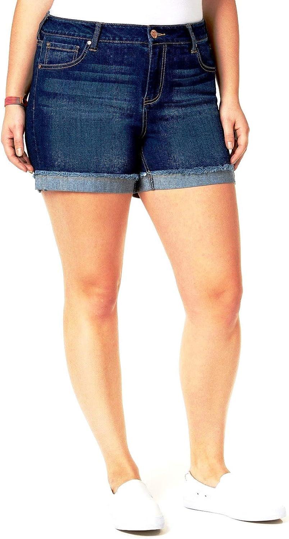 1826 Jeans Jack David Women's Plus Size Capri Bermuda Pull On Short Curvy Denim Jean