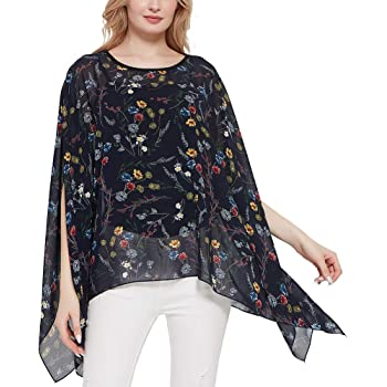 Womens Summer Sheer Print Chiffon Kaftan Top Bnwt Ladies Plus Size