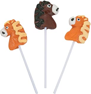 Horse-Shaped Suckers - Candy & Suckers & Lollipops, 17g each - 12 Pieces