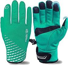 FINGER TEN Winter Gloves for Men Running Touchscreen Windproof Pair, Cycling Touch Screen Waterproof Thermal Warm Winter G...