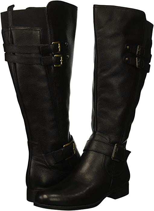 Black Wide Calf Leather
