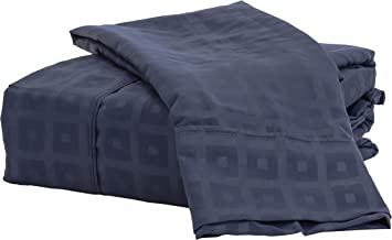Natalia Cavalletto Box 1800 Series 6 Piece Microfiber Bed Sheet Set, Queen, Navy Blue