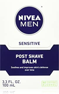 NIVEA FOR MEN Sensitive Post Shave Balm 3.30 oz (Pack of 2)