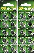 GP A76 LR44 AG13 Alkaline Cell 1.5V Alkaline Button Cell Battery x (20) Batteries