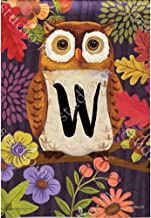 Magnet Works POD Monogram Garden Flag - Floral Owl W