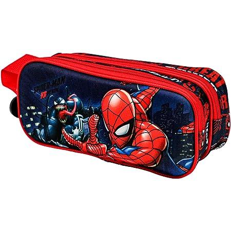 KARACTERMANIA Spiderman Versus-Estuche Portatodo 3D Doble, Multicolor