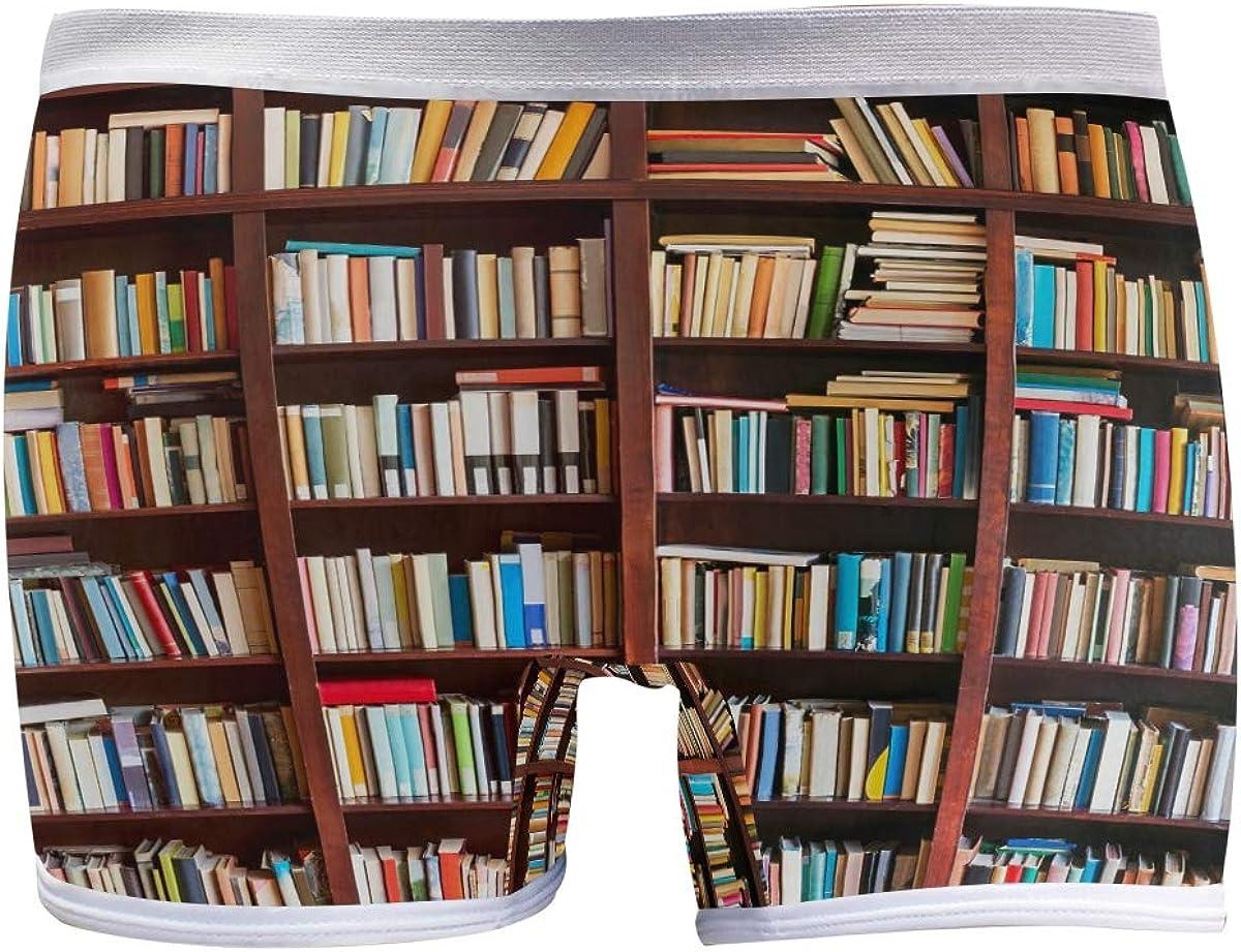 SLHFPX Womens Underwear low-pricing Boxer Bookshelf Superior Briefs Background Ladies