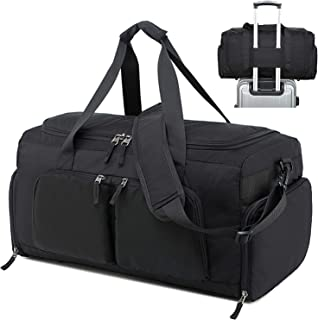 Mens Travel Duffel Bag with Shoe Compartment Weekender Overnight Carry on Tote Bags