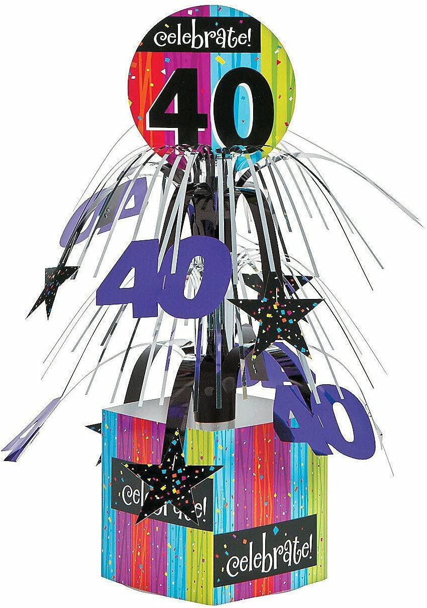 Celebrate All items in the store Milestone 40Th Birthday Discount mail order Party - Supplies Centerpiece