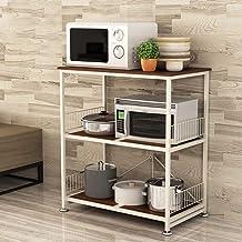 Multifunctional Kitchen Storage Rack Storage Shelf Microwave Oven Kitchen Shelf Floorstanding Trolley 3-Tier Spice Rack Ov...