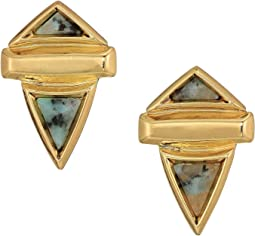 Pyramid Stone Small Earrings