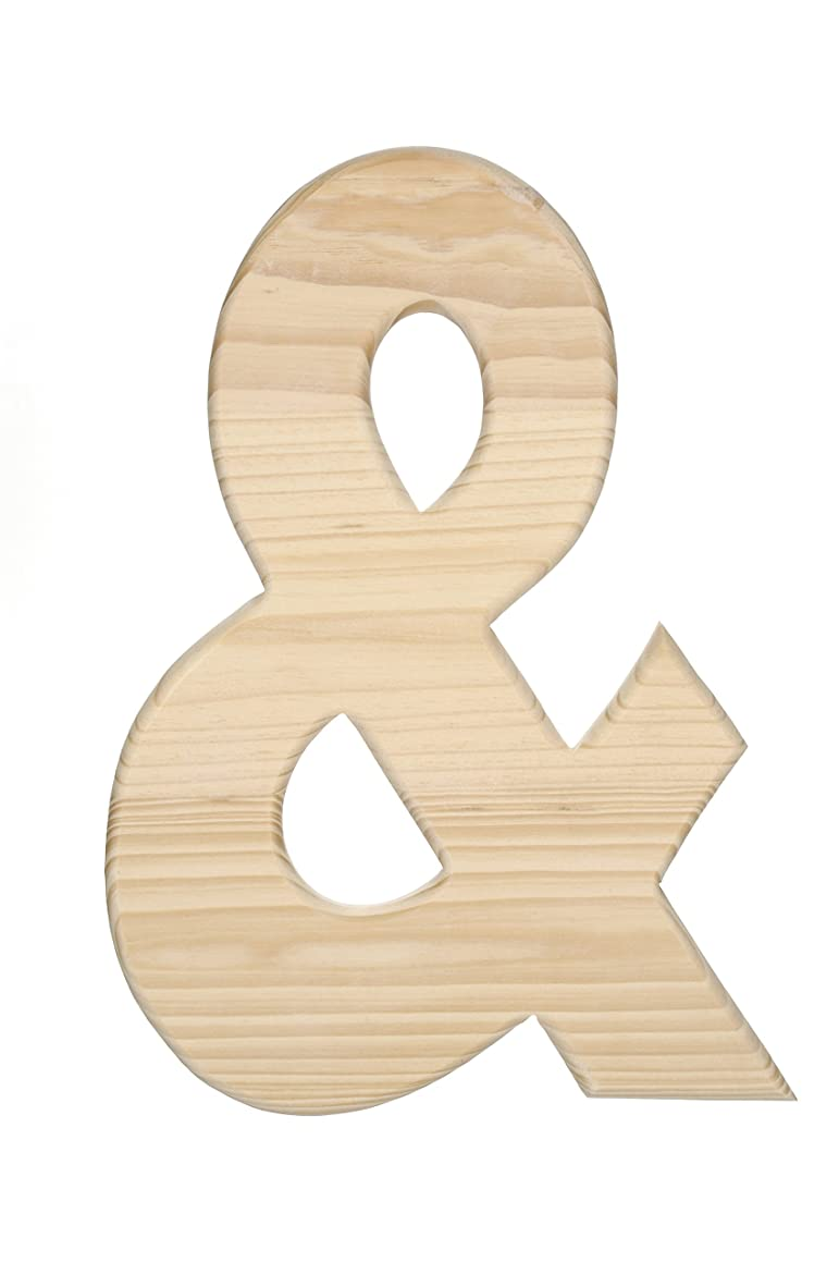 Darice, 12 in. Unfinished Wood Ampersand DWO