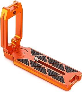 3 Legged Thing Universal Schnellwechselplatte mit L Halterung und Kabelzugriffsschalter von Hoch  zu Querformat (QR11 LC) Orange