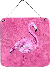Caroline's Treasures Flamingo on Pink Aluminum Metal Wall or Door Hanging Prints, Aluminum, Multicolor, 6 x 6