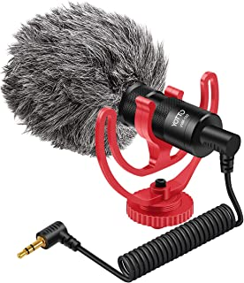YOTTO VideoMicro Micrófono de Condensador, Universal Micrófono Compacto Cardioide para Videocámaras de 3,5 mm para Video/C...