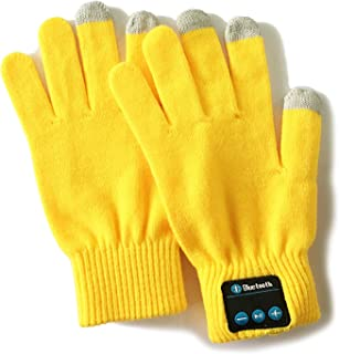 Bluetooth Gloves Wireless Talking Winter Gloves Touch Screen with Built-in Stereo Speakers, Removable Headphones
