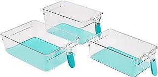 Amazon Basics Bacs avec poignée pour réfrigérateur Ensemble de 6