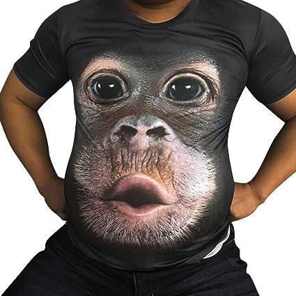 Luckycat Camiseta De Hombre Blusa De Manga Corta De Impresión ...