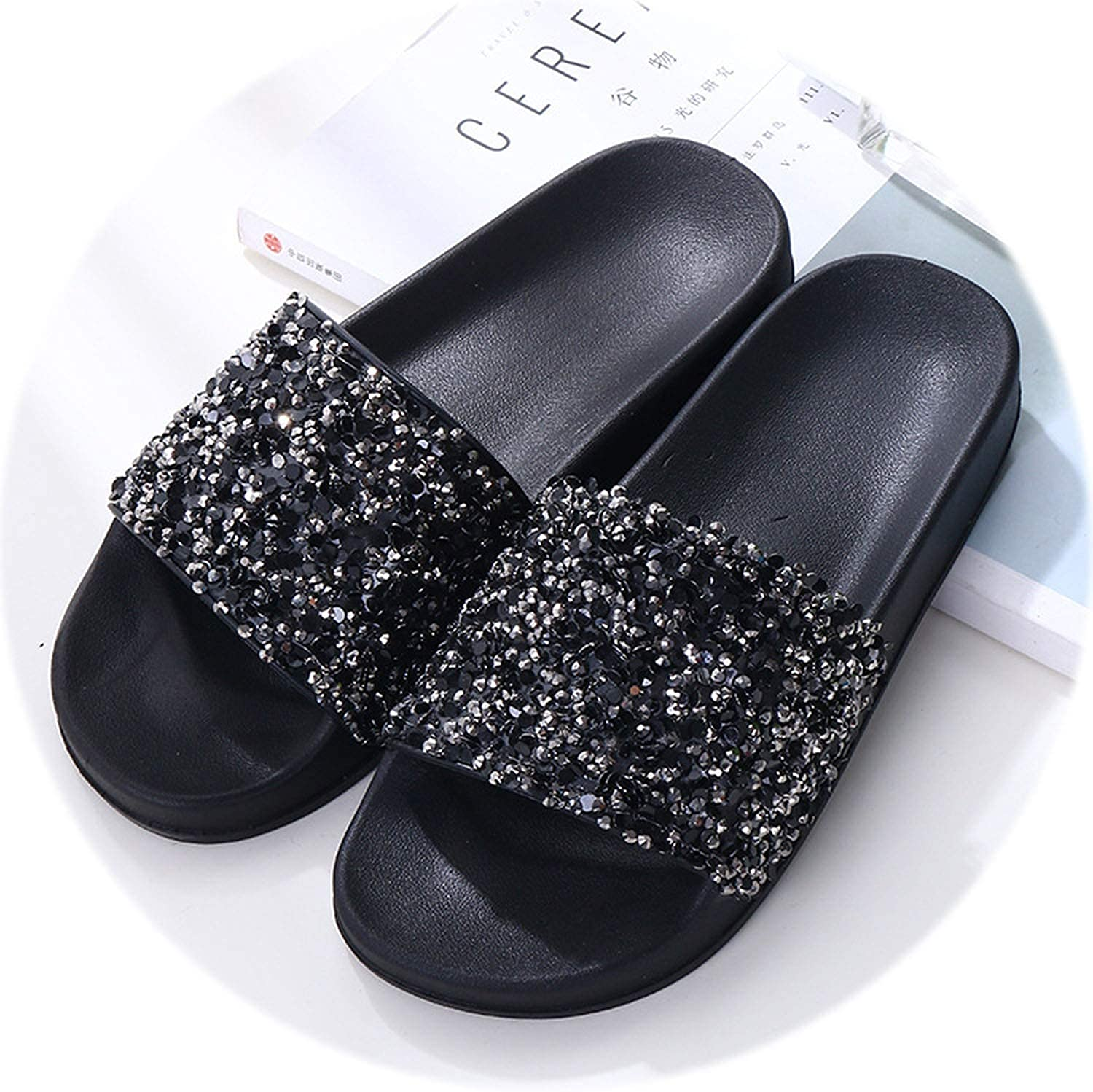 Rather be Women Slippers Flip Flops Women Crystal Bling Sequins Platform Beach Slides Sandals Casual shoes Slip On Slipper