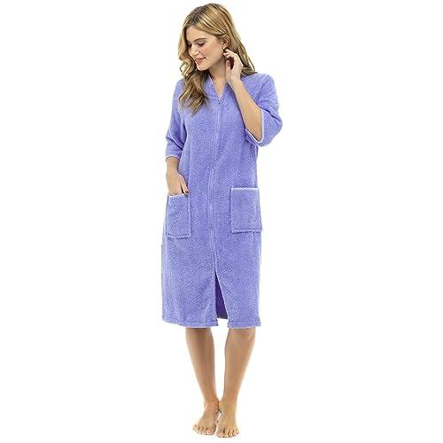 Lora Dora Womens Zip Through Dressing Gown 598c5be83