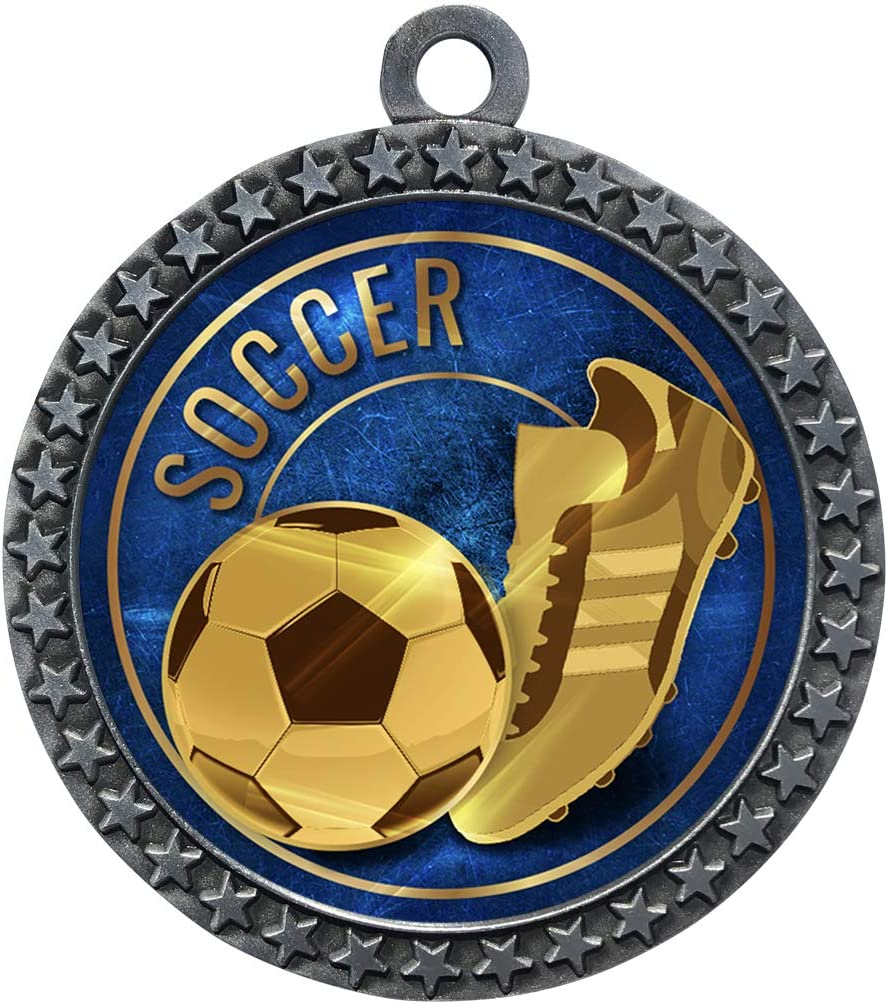 Express Medals 1 to 50 Sale SALE% OFF Packs Soccer safety Medal Award Trophy Silver wi