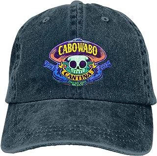 Cabo Wabo Hats Adjustable Vintage Washed Denim Baseball Cap Casquette