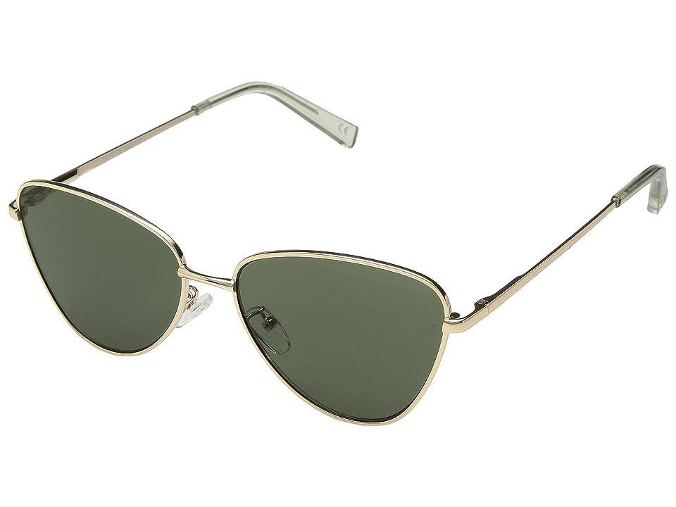 Le Specs Echo (Matte Gold/Khaki Mono) Fashion Sunglasses