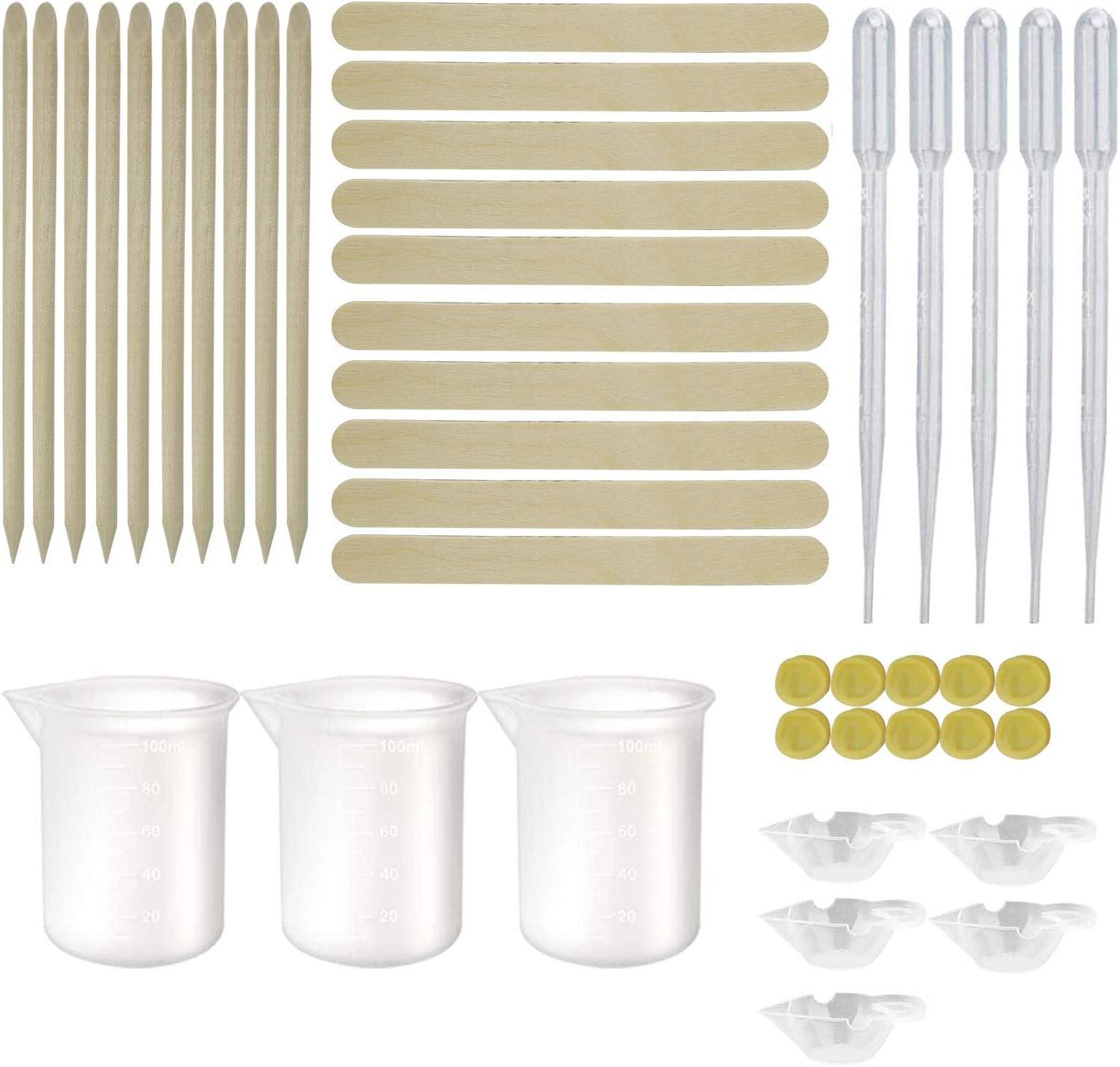 43 PCS Resin Kit Tools Silicone mart Measuring Cups Cu Kit- Reusable Sale