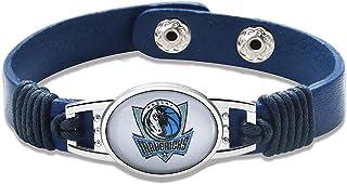 "GameWear Dallas Mavericks Leather Bracelet with Snap Closure 7"" to 9"""