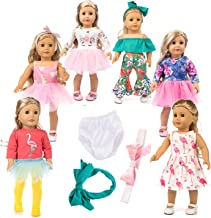 axxxt 12pc American Doll Unicorn Doll Clothes ,American girsl Doll Unicorn accessori, American girsl Doll Accessories Outfits Fits 18