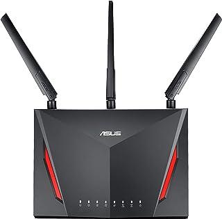ASUS ゲーミングWi-Fi無線ルーターRT-AC86U 11ac デュアルバンド AC2900 2,167+750Mbps 接続18台/3階建・4LDK 【 PS4 / Wii U 対応 】