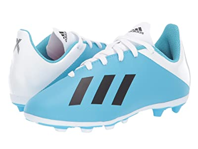 adidas Kids X 19.4 FXG Soccer (Little Kid/Big Kid) (Bright Cyan/Black/Shock Pink) Kid