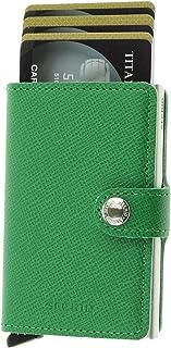 Secrid Mens Vintage Cognac Card Case Mini Wallet, Color Green