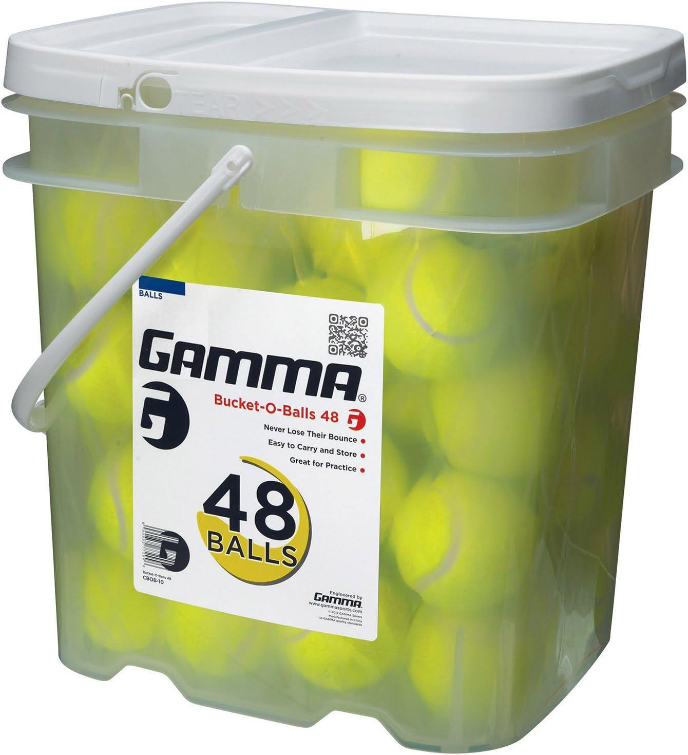 Gamma Bucket of Pressureless Tennis Balls - Sturdy, Reusable, an