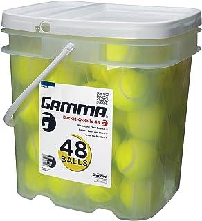 Pressureless Tennis Ball Bucket| Case w/48 Practice Balls| Sturdy/Reusable/Portable Bucket to Replace Less Durable Tennis Mesh