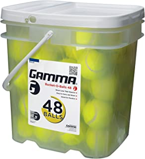 Gamma Pressureless Tennis Ball Bucket| Case Practice Balls| Sturdy/Reusable/Portable Bucket to Replace Less Durable Tennis Mesh Bags| Ideal for All Court Types Premium Tennis Accessories