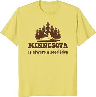 Minnesota Lake Hiking Camping Fishing Adventure Shirt