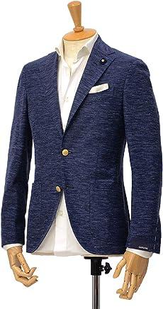 [LARDINI【ラルディーニ】]ジャージージャケット EASY JP0526AQY/EGRP52596/10 コットンリネン ネイビー
