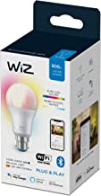 WiZ A60 B22 Wi-Fi + Bluetooth Smart LED Bulb, Multicolor