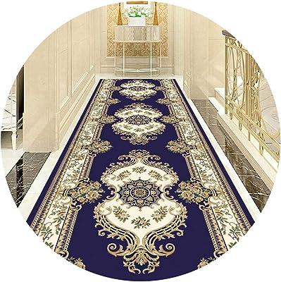 Hallway Runner Rug Long Runner Rugs Corridor Carpet Continental Aisle Stairs Anti-Slip Mat Full Shop Hotel Corridor Living Room Carpet Can Be Cut (Color : A, Size : 1X3M)