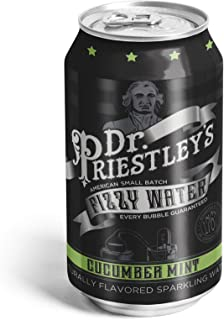Dr. Priestley's Cucumber Mint Fizzy Water 12 Ounce, 24 Count