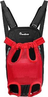 PAWABOO Pet Carrier Backpack, Adjustable Pet Front Cat Dog Carrier Backpack Travel Bag with Sponge Padding Shoulder Straps, Legs Out, Easy-Fit for Traveling Hiking Camping