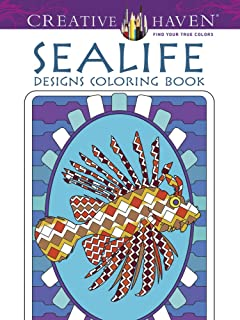 Creative Haven Sealife Designs Coloring Book (Creative Haven Coloring Books)