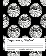 Hedgehog Composition Notebook: Wide-Ruled, 7.5 x 9.25, 100 Pages, For kids, teens, and adults, Animals ,Hedgehog