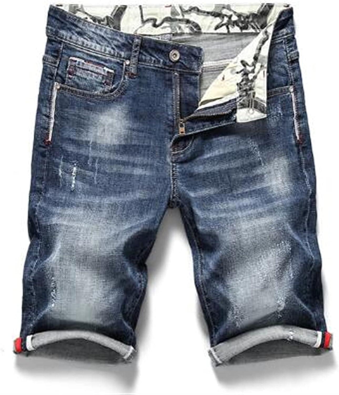 LSTGJ Luxury Max 70% OFF Men's Stretchy Short Jeans Casual S Denim Fit Elastic Slim