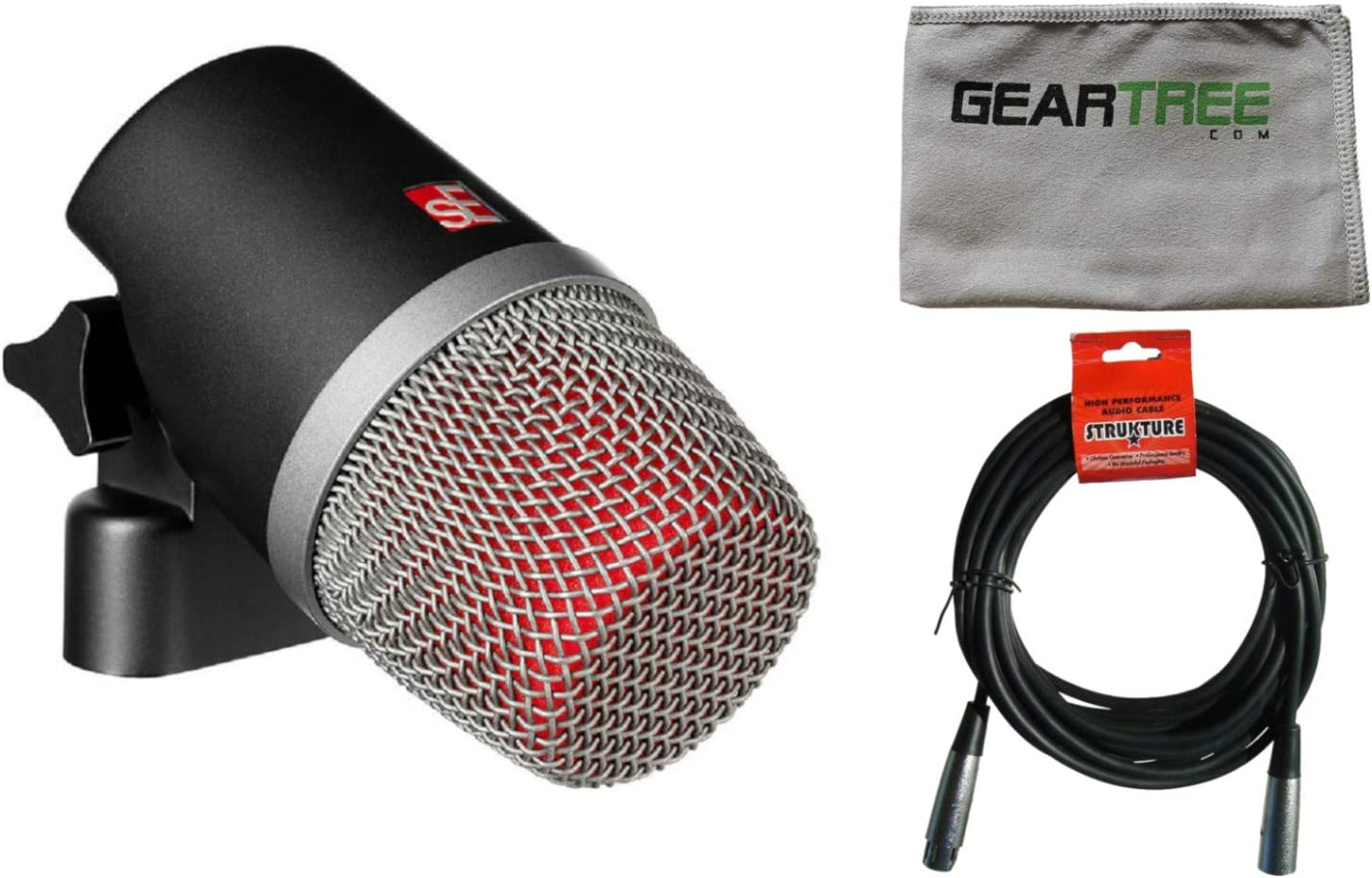 SE Electronics V Clearance SALE! Limited time! Kick Bass Drum Microphone Geartree Cloth w and New product type