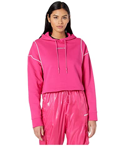 adidas Originals Cropped Hoodie (Real Magenta) Women